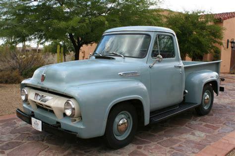 1954 Ford F100 by 1954 Ford F100 Waterfall Blue Original Un Restored