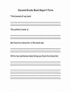 8 best images of 2nd grade book report printables 2nd With book report template for 2nd grade