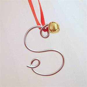 Silver wire letter ornament christmas gift tie on or gold for Silver letter christmas ornaments