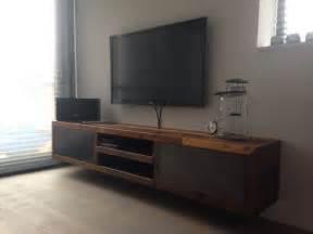 tv meubel hout en ijzer mooi tv meubel op maat gemaakt restylexl