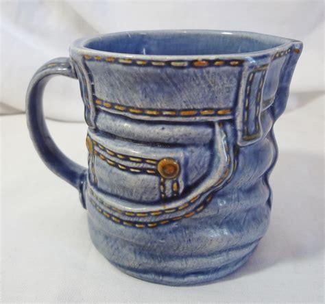 b5d19563290 1600 x 1502 bonanza.com. Blue Jean Ceramic Coffee Cup Mug Handcrafted ...