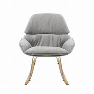 Rocking Chair Tissu : rocking chair vintage en tissu buddy ~ Teatrodelosmanantiales.com Idées de Décoration