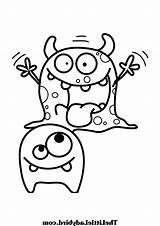 Coloring Pages Cute Monster Print Printable Monsters Getcolorings sketch template
