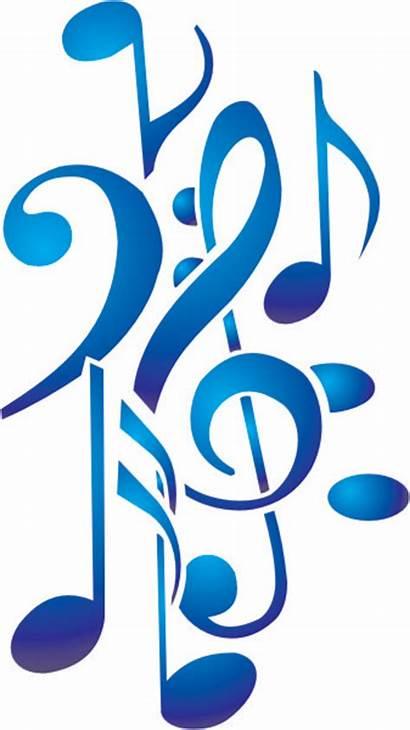 Notes Note Stencils Musical Clipart Clip Symbols