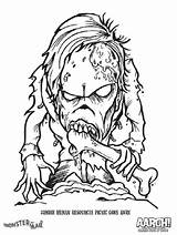 Scary Monster Coloring Pages Printable Getcolorings Colorings Colori sketch template