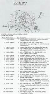 Honda Gc160 Pressure Washer Engine Parts And Breakdown