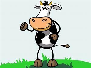 Caricatura de vaca parada sobre dos patas imagen #7775 Imágenes Cool