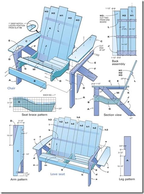 woodwork adirondack chairs blueprints pdf plans