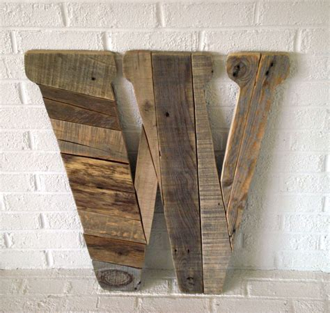 large wood letter  modern wall art rustic letter  pinned  pinetsycom large wood