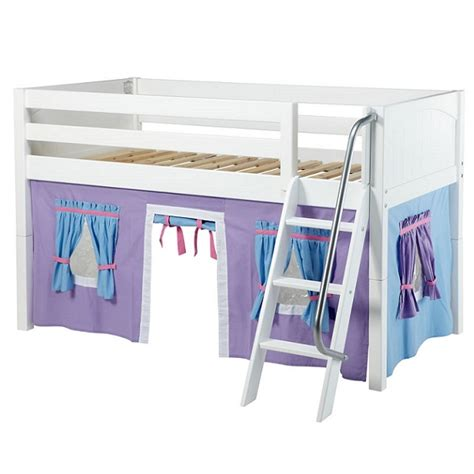 maxtrix loft bed maxtrix loft bed low loft w angled ladder curtains