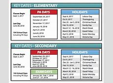 School Year and Religious Holiday Calendars TVDSB