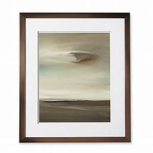 Framed wall art abstract seascape