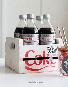 diy diet coke bottle hack free printable stickers With custom coke bottle label