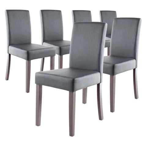 lot de chaise salle a manger clara lot de 6 chaises de salle à manger grises achat