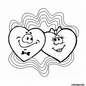 Dessin Saint Valentin : coloriage coeur saint valentin dessin ~ Melissatoandfro.com Idées de Décoration