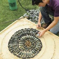 lay out the mosaic how to make a pebble mosaic this
