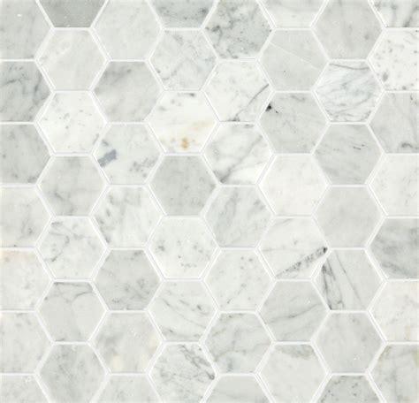 Marble Mosaic Tile by Carrara Honed Hexagon Marble Mosaic Tile Mandarin