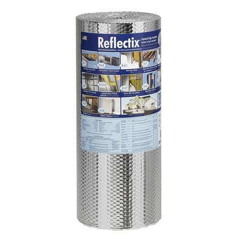 radiant barrier lowes shop reflectix r21 24 in x 25 ft unfaced reflective roll insulation at lowes com