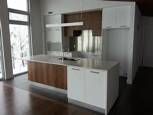 cuisine contemporaine blanche et bois maisons la prise With cuisine contemporaine blanche et bois
