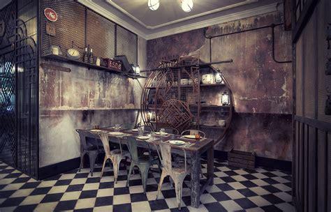 cuisine retro vintage luxe décadence dans le projet d 39 intérieur du fast food n5