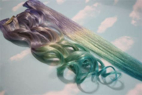 Ice Storm Purple Blue Ombre Dip Dyed Human Hair Extensions