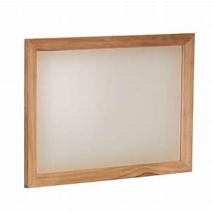 Miroir Cadre Bois : miroir carr cadre en bois teck massif ~ Teatrodelosmanantiales.com Idées de Décoration