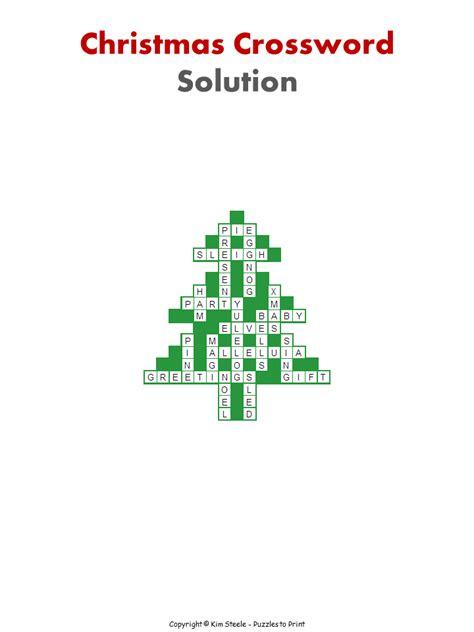 christmas tree crossword for kids