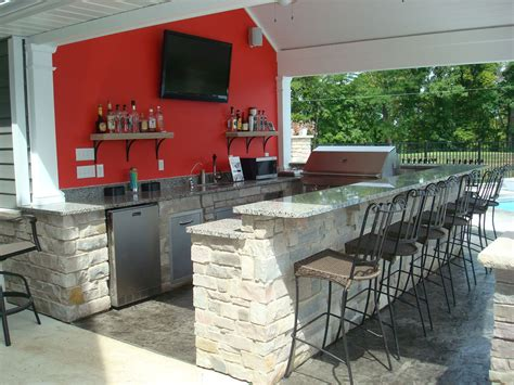 Kitchen Bar Grill by 8 Outdoor Kitchen Pool House Snack Bar Granite