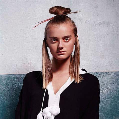 trendy hair style  ss  top knot bun top knot bun