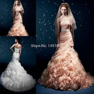 popular peach colored wedding dresses buy cheap peach With peach wedding dress