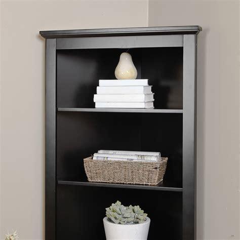 Corner Black Bookcase by Black Corner Bookcase Contemporary Cabinet Hutch Bookshelf