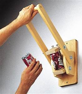 19-W799 - Wall Mounted Can Crusher Woodworking Plan