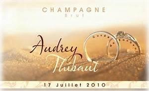 Etiquette Champagne Mariage : tiquette de champagne personnalis e gratuite vins et champagne ~ Teatrodelosmanantiales.com Idées de Décoration