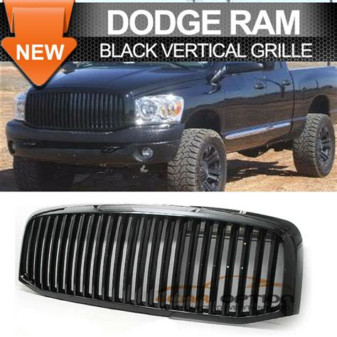 New Ram Grill by Fits 06 08 Dodge Ram 1500 2500 3500 Black Vertical Front