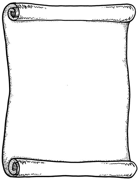 Templates Clipart Blank Scroll  Pencil And In Color