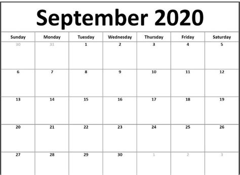 fillable september  calendar templates