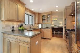 Pickled Oak Cabinets Kitchen by Pictures Of Kitchens Traditional Light Wood Kitchen