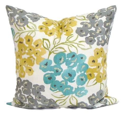 teal and gray pillows teal yellow pillow cover gray pillow pillow floral pillow