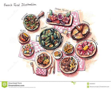 illustration cuisine food illustration stock illustration illustration of butter 45250037