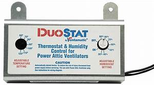 Dayton Attic Fan Thermostat Humidistat  U2022 Attic Ideas