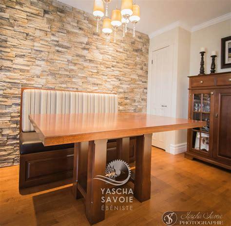table de cuisine sur mesure table de cuisine en merisier avec banquette meubles sur