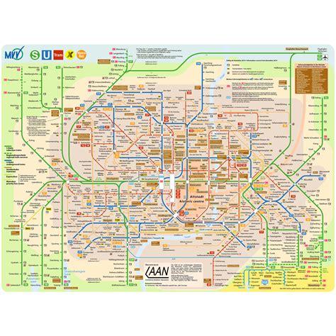 mvv netzplan verkehrsnetz  bahn  bahn bus tram