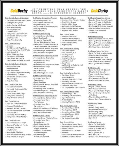 emmy ballot print    play   home goldderby