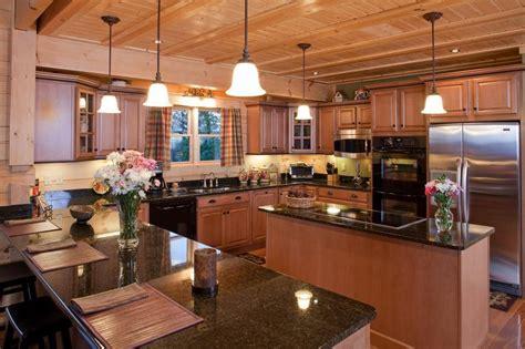 luxury log homes luxury log home kitchen  custom