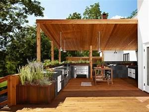 1001idees d39amenagement d39une cuisine d39ete exterieure With amenagement d une terrasse exterieure