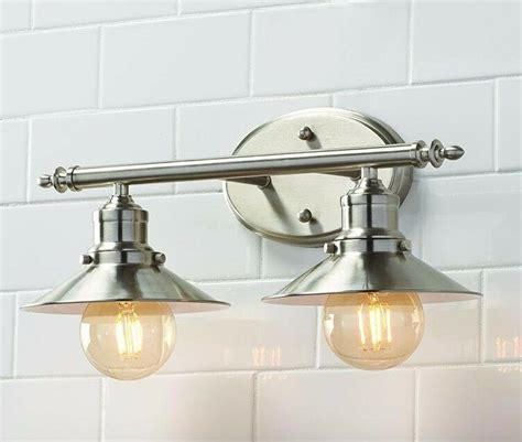 home decorator  light brushed nickel retro bathroom wall