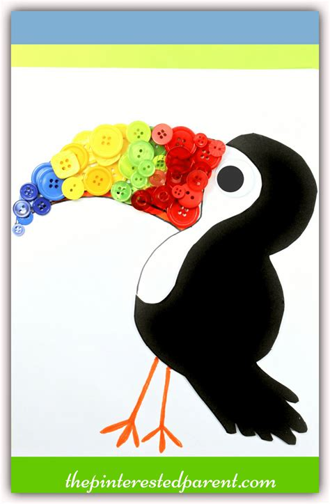 Toucan Body Template by Button Toucan The Pinterested Parent