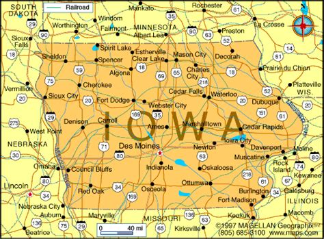 iowa map infoplease