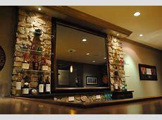 Ultimate Bar Mirror Contemporary Basement
