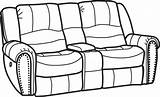Coloring Sofa Couch Template sketch template